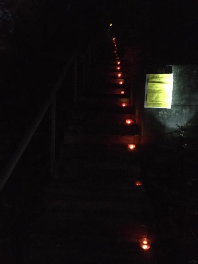 Treppe zum Tämbrig hinauf